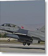 An F-16b Of The Pakistan Air Force Metal Print