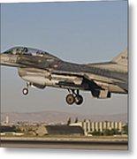 An  F-16b Of The Turkish Air Force Metal Print