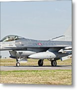 An F-16c Block 50 Of The Turkish Air Metal Print