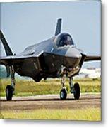 An F-35 Lightning II Taxiing At Eglin Metal Print