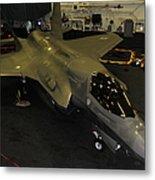 An F-35b Lightning II Is Secured Metal Print