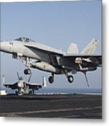 An Fa-18e Super Hornet Prepares Metal Print