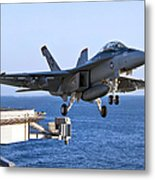 An Fa-18f Super Hornet Takes Metal Print