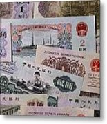 An Image Of Chinas Colorful Paper Money Metal Print