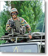 An Infantry Soldier Of The Belgian Army Metal Print