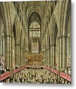 An Interior View Of Westminster Abbey On The Commemoration Of Handel's Centenary Metal Print