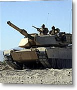 An M1a1 Main Battle Tank Metal Print