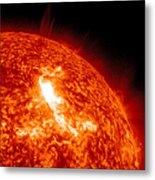 An M8.7 Class Flare Erupts On The Suns Metal Print