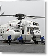 An Mh-53e Super Stallion Helicopter Metal Print