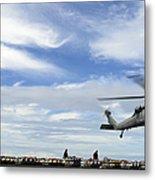 An Mh-60s Sea Hawk Lifts A Pallet Metal Print