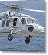 An Mh-60s Sea Hawk Search And Rescue Metal Print
