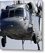 An Mh-60s Seahawk Delivers A Pallet Metal Print