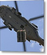 An Mh-60s Seahawk Helicopter Airlifts Metal Print