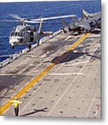 An Mh-60s Seahawk Helicopter Prepares Metal Print