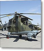 An Mi-24 Hind Helicopter Metal Print
