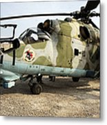 An Mi-24 Russian Helicopter Metal Print