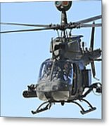 An Oh-58 Kiowa Takes Metal Print