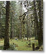 An Old Cemetary In A Forest Metal Print by Taylor S. Kennedy