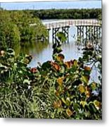 An Old Fishing Bridge Metal Print