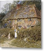 An Old Surrey Cottage Metal Print