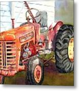 An Old Tractor Metal Print