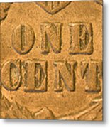 An Old United States Indian Head Penny Metal Print