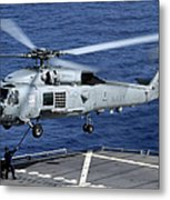 An Sh-60b Seahawk Helicopter Performs Metal Print
