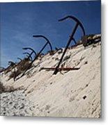 Anchor Beach Metal Print
