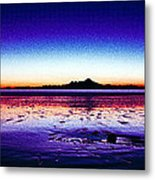 Anchor Point Beach Twilight Metal Print