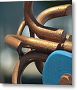 Anchored Down Metal Print