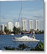 Anchored On Maule Lake Metal Print