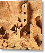 Ancient Anasazi Indian Cliff Dwellings Metal Print