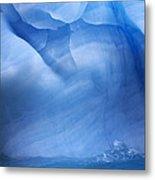 Ancient Blue Iceberg, Detail, Antarctica Metal Print