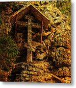 Ancient Cross. Holy Island  Metal Print