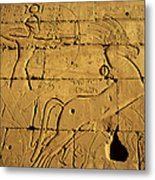 Ancient Egyptian Carving, Ramesseum Temple, Luxor Metal Print