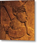 Ancient Egyptian Carving, Temple Of Luxor, Egypt Metal Print