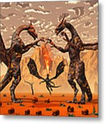 Ancient Lava Dragons Born Of Fire Metal Print