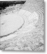 Ancient Site Of Roman Theatre At Salamis Famagusta Turkish Republic Of Northern Cyprus Trnc Metal Print by Joe Fox