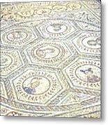 Ancient Spanish Mosaic Metal Print