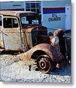 ...and Rotate The Tires Metal Print
