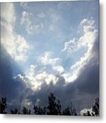 And The Clouds Opened Up Metal Print by Christy Patino