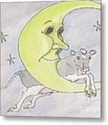 And The Cow Jumped Over The Moon Metal Print