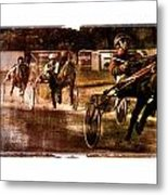 and the winner is - A vintage processed Menorca trotting race Metal Print