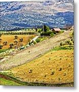 Andalusia Countryside Panorama Metal Print