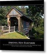 Andover Nh Historical Bridge Metal Print by Jim McDonald Photography