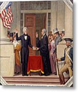 Andrew Jackson At The First Capitol Inauguration - C 1829 Metal Print
