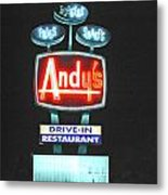Andy's Drive-in Metal Print