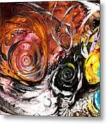 Anewed Antypityped Five Fish Metal Print