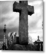 Angel And Cross Metal Print by Jeff Holbrook
