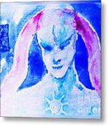 Angel Blue Metal Print